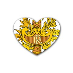 National Emblem Of France  Rubber Coaster (heart)  by abbeyz71