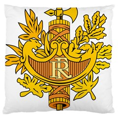 National Emblem Of France  Standard Flano Cushion Case (one Side) by abbeyz71