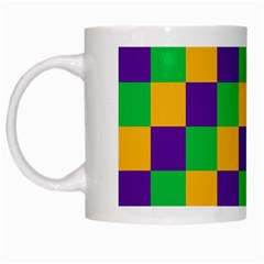 Mardi Gras Checkers White Mugs by PhotoNOLA