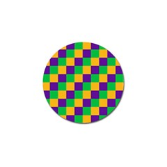 Mardi Gras Checkers Golf Ball Marker (10 Pack) by PhotoNOLA