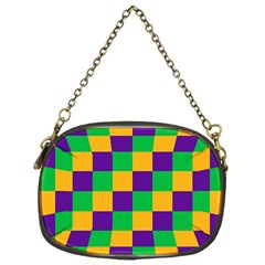 Mardi Gras Checkers Chain Purses (one Side)  by PhotoNOLA