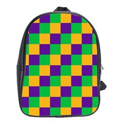 Mardi Gras Checkers School Bags(large)  by PhotoNOLA
