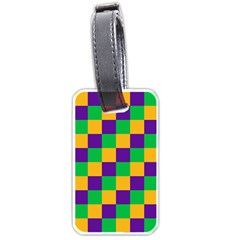 Mardi Gras Checkers Luggage Tags (one Side)  by PhotoNOLA