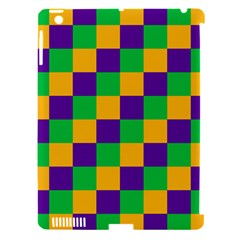 Mardi Gras Checkers Apple Ipad 3/4 Hardshell Case (compatible With Smart Cover) by PhotoNOLA