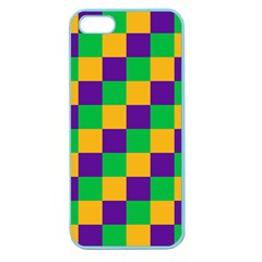 Mardi Gras Checkers Apple Seamless Iphone 5 Case (color) by PhotoNOLA