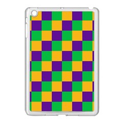 Mardi Gras Checkers Apple Ipad Mini Case (white) by PhotoNOLA