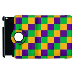 Mardi Gras Checkers Apple Ipad 2 Flip 360 Case by PhotoNOLA