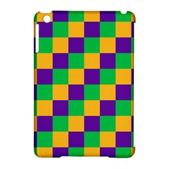Mardi Gras Checkers Apple Ipad Mini Hardshell Case (compatible With Smart Cover) by PhotoNOLA