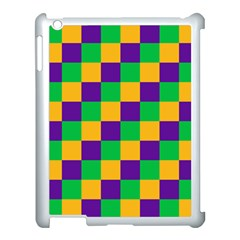 Mardi Gras Checkers Apple Ipad 3/4 Case (white) by PhotoNOLA