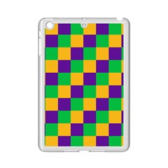 Mardi Gras Checkers Ipad Mini 2 Enamel Coated Cases by PhotoNOLA