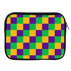 Mardi Gras Checkers Apple Ipad 2/3/4 Zipper Cases by PhotoNOLA