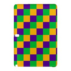 Mardi Gras Checkers Samsung Galaxy Tab Pro 10 1 Hardshell Case by PhotoNOLA