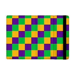 Mardi Gras Checkers Ipad Mini 2 Flip Cases by PhotoNOLA