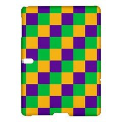 Mardi Gras Checkers Samsung Galaxy Tab S (10 5 ) Hardshell Case  by PhotoNOLA