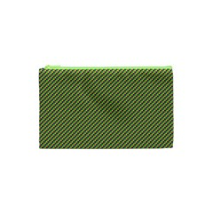Mardi Gras Checker Boards Cosmetic Bag (xs)