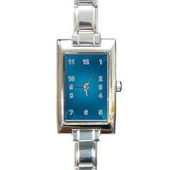 Blue Sea World Animals Fish Flower Floral Swim Waves Rectangle Italian Charm Watch by Alisyart