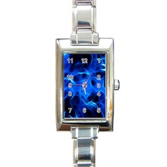Blue Flame Light Black Rectangle Italian Charm Watch by Alisyart