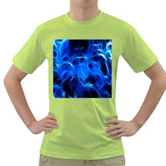 Blue Flame Light Black Green T Shirt