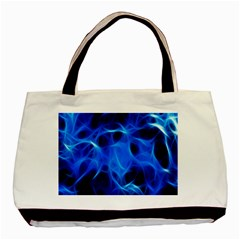Blue Flame Light Black Basic Tote Bag (two Sides) by Alisyart