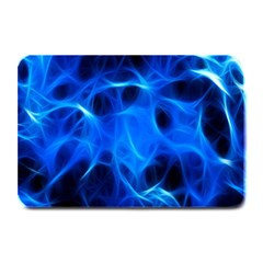 Blue Flame Light Black Plate Mats