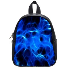 Blue Flame Light Black School Bags (small)  by Alisyart