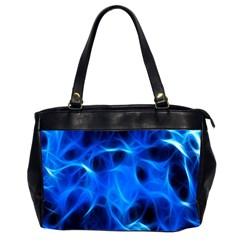 Blue Flame Light Black Office Handbags (2 Sides)  by Alisyart