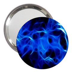 Blue Flame Light Black 3  Handbag Mirrors