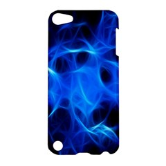 Blue Flame Light Black Apple Ipod Touch 5 Hardshell Case by Alisyart