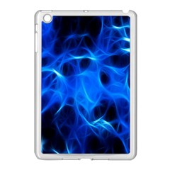 Blue Flame Light Black Apple Ipad Mini Case (white) by Alisyart