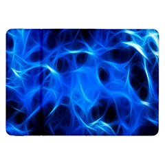 Blue Flame Light Black Samsung Galaxy Tab 8 9  P7300 Flip Case by Alisyart