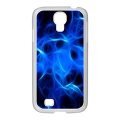 Blue Flame Light Black Samsung Galaxy S4 I9500/ I9505 Case (white)