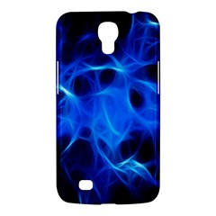 Blue Flame Light Black Samsung Galaxy Mega 6 3  I9200 Hardshell Case by Alisyart