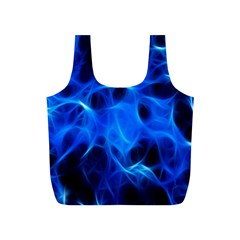 Blue Flame Light Black Full Print Recycle Bags (s)  by Alisyart