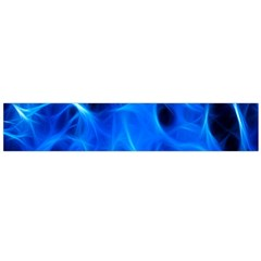 Blue Flame Light Black Flano Scarf (large) by Alisyart