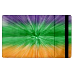 Mardi Gras Tie Die Apple Ipad 3/4 Flip Case by PhotoNOLA