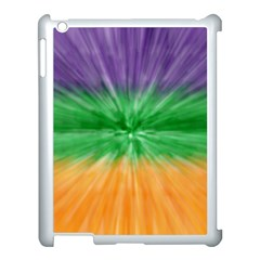 Mardi Gras Tie Die Apple Ipad 3/4 Case (white) by PhotoNOLA