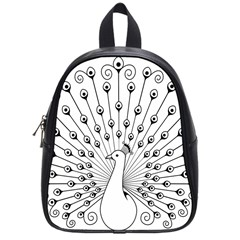 Bird Peacock Fan Animals School Bags (small)  by Alisyart