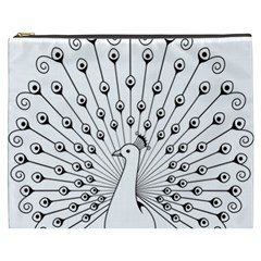 Bird Peacock Fan Animals Cosmetic Bag (xxxl)  by Alisyart
