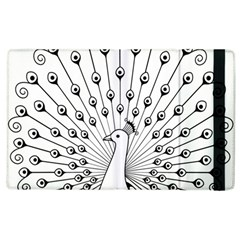 Bird Peacock Fan Animals Apple Ipad 2 Flip Case by Alisyart