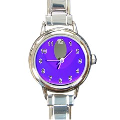 Ceiling Color Magenta Blue Lights Gray Green Purple Oculus Main Moon Light Night Wave Round Italian Charm Watch
