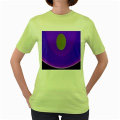 Ceiling Color Magenta Blue Lights Gray Green Purple Oculus Main Moon Light Night Wave Women s Green T Shirt