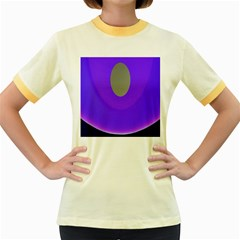 Ceiling Color Magenta Blue Lights Gray Green Purple Oculus Main Moon Light Night Wave Women s Fitted Ringer T Shirts