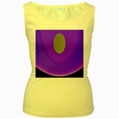 Ceiling Color Magenta Blue Lights Gray Green Purple Oculus Main Moon Light Night Wave Women s Yellow Tank Top