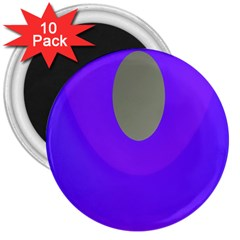 Ceiling Color Magenta Blue Lights Gray Green Purple Oculus Main Moon Light Night Wave 3  Magnets (10 Pack)  by Alisyart