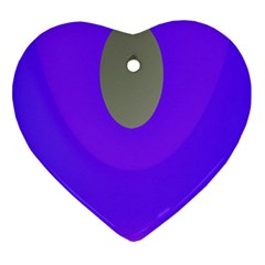 Ceiling Color Magenta Blue Lights Gray Green Purple Oculus Main Moon Light Night Wave Heart Ornament (two Sides)