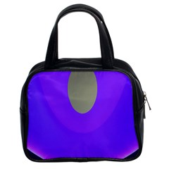 Ceiling Color Magenta Blue Lights Gray Green Purple Oculus Main Moon Light Night Wave Classic Handbags (2 Sides)