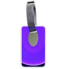 Ceiling Color Magenta Blue Lights Gray Green Purple Oculus Main Moon Light Night Wave Luggage Tags (one Side)