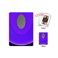 Ceiling Color Magenta Blue Lights Gray Green Purple Oculus Main Moon Light Night Wave Playing Cards (mini)
