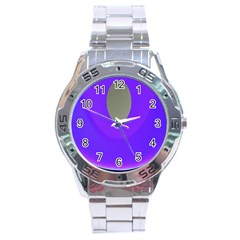 Ceiling Color Magenta Blue Lights Gray Green Purple Oculus Main Moon Light Night Wave Stainless Steel Analogue Watch