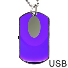 Ceiling Color Magenta Blue Lights Gray Green Purple Oculus Main Moon Light Night Wave Dog Tag Usb Flash (one Side)